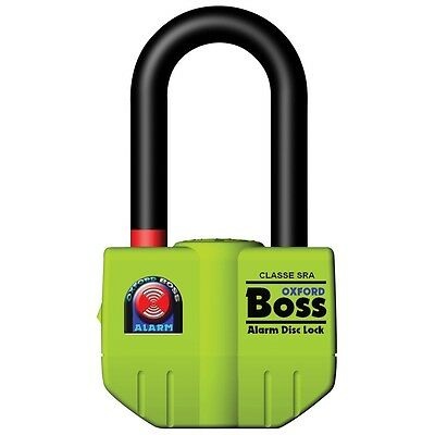 Oxford Products Boss Alarm Motorcycle Motorbike Scooter 14mm Disc Lock Thatcham