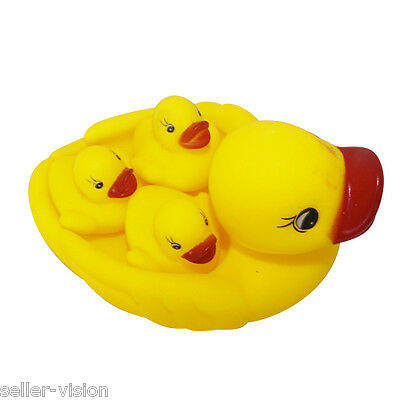 Bath Time Baby Infant Rubber Duck Family Set Kids Childrens Squeaky Toys Play