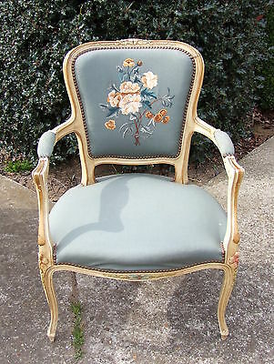 Lovely French Painted Armchair -  (010045)