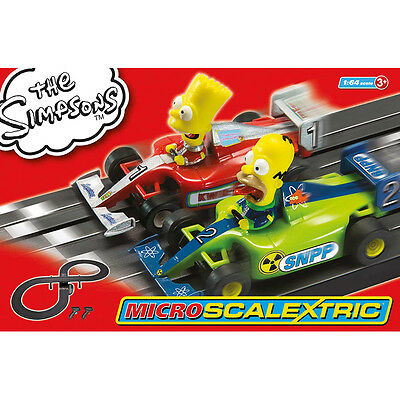 Scalextric The Simpsons Micro-Scalextric (Scale 1:64)