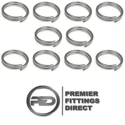 10 PACK OF 1.5MM x 22MM SPLIT RINGS / COTTER PINS STAINLESS STEEL