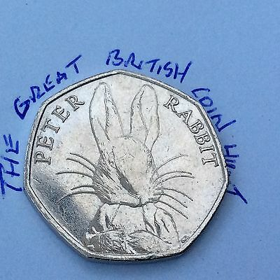 Circulated 2016 Peter Rabbit 50p Coin Beatrix Potter Commemorative