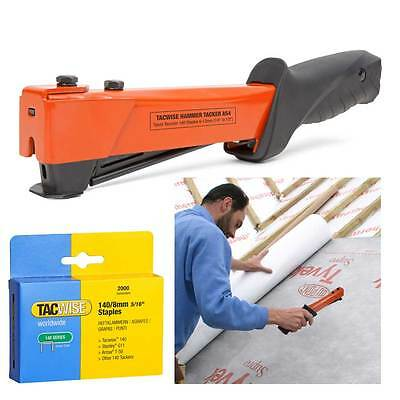 Tacwise Heavy Duty Type 140 12mm Hammer Tacker Roofing Felt Stapler with Staples