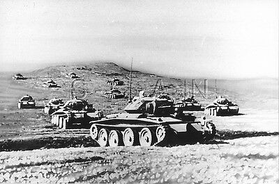 1930s-40s (6 x 4) Repro British RP- Panzer- Tank- Cruiser in Formation- In Field