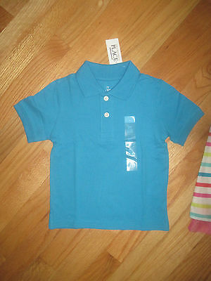Toddler boy TCP Turquoise blue short sleeve collared shirt top NWT 2T