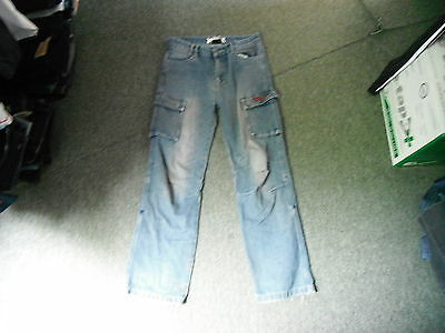 "No Fear Relaxed Jeans Waist 30"" Leg 29"" Faded Dark Blue Boys 13 Yrs Jeans"