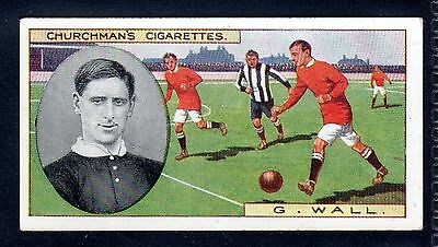 CHURCHMAN FOOTBALLERS (COLOURED) GEORGE WALL-MANCHESTER UNITED & ENGLAND No.9