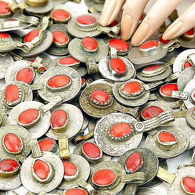 40 real Jeweled COINS Tribal BellyDance Kuchi Tribe - RED Color