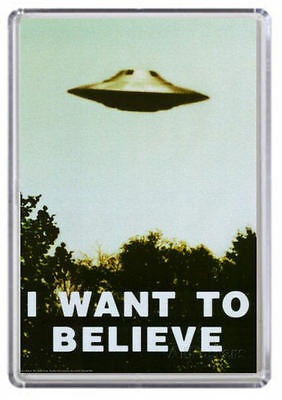 I want to believe X Files Fridge Magnet