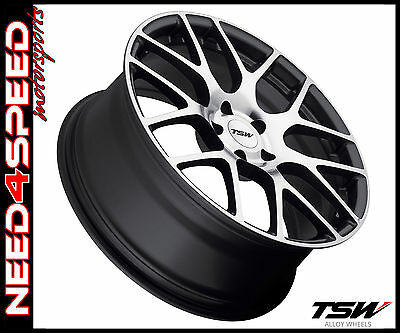 "20"" TSW Nurburgring 20x9 Gunmetal Mirror Concave Wheels for BMW E39 525 528 540"