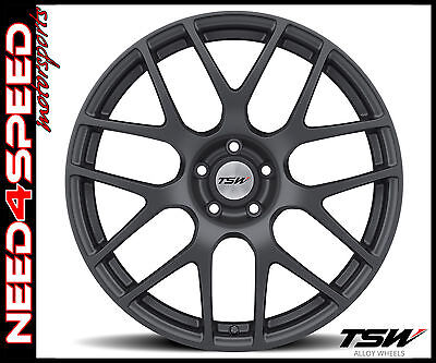 "20"" TSW Nurburgring 9/10.5 Matte Gunmetal Concave Wheels for BMW E39 525 528 540"