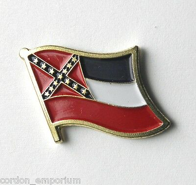 United States Mississippi State Single Flag Lapel Pin Badge 1 Inch