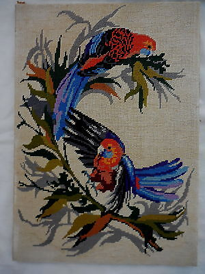 Vintage Tapestry Picture Craft Warehouse Crimson Rosella By David Spencer-Couper