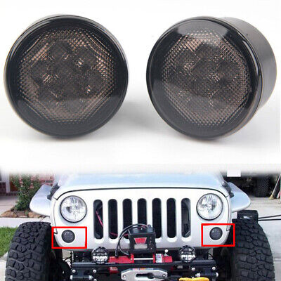 2x Amber Front Grill Turn Signal Indicator Light 0.8W for Jeep Wrangler JK 07-15