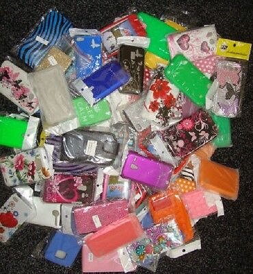 Wholesale Joblot Of 100 X Mobile Phone Cases + Accessories - Various Models -New
