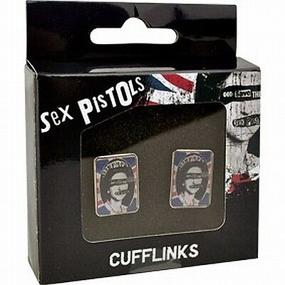 SEX PISTOLS cufflinks GOD SAVE THE QUEEN in gift box free UK P&P