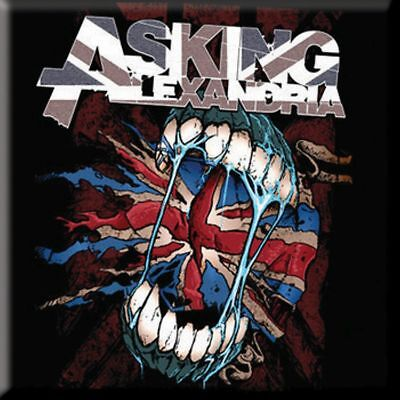 "ASKING ALEXANDRIA Flag Eater  fridge magnet 3"" square metal gift free UK P&P"