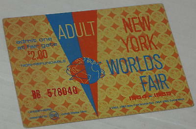 Original 1964-65 NY World's Fair Adult Admission Ticket