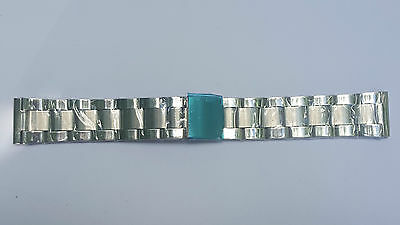 BRACELET MONTRE ACIER  / WATCH BAND / 20mm   argenté / REF DK42 MAILLE ITALIENNE