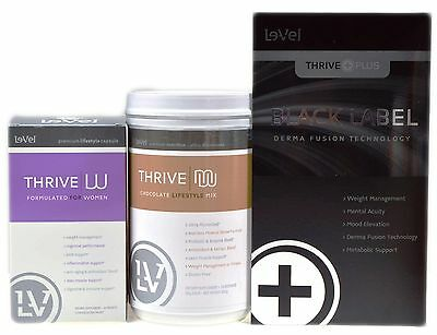 Le-Vel Thrive Women CANISTER Vitamins Black DFT Patches & Chocolate Shake