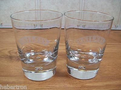 2  Collectable Bailey's  on The Rocks Bar Glass's