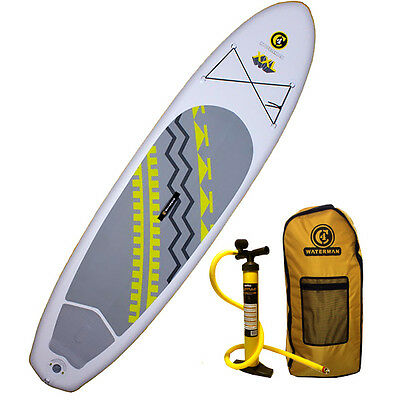 "2016 C4 Waterman 10'8"" XXL 150 Inflatable SUP Standup Paddle Board"