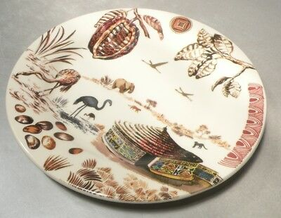 NEW B&B Plate Afrique Cacao Pattern  From  GIEN