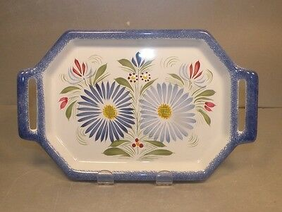 NEW 2 Handles Tray , Fleuri Royal,  Henriot Quimper from France