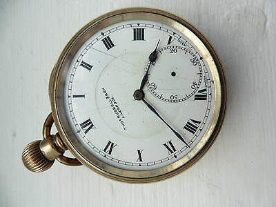 Gold Plated pocket watch Antique Vintage 1960 c spares and repairs not tested 6
