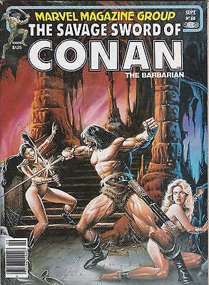 "Sept 1981 Marvel Magazine Group ""Savage Sword of Conan the Barbarian"" #68"