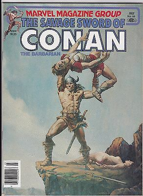 "July 1981 Marvel Magazine Group ""Savage Sword of Conan the Barbarian"" #66"