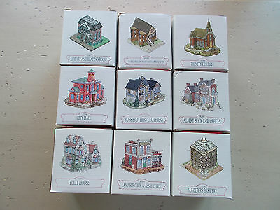 Vintage Lot 9 Liberty Falls Americana Collection Old West Colorado Buildings