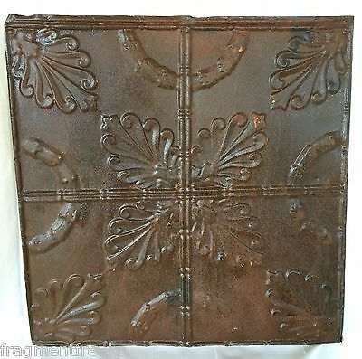 "24""x 24"" Antique Ceiling Tin Tile  *See Our Salvage Videos* Rust A10"