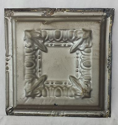 "12.5"" x 12.5"" Antique Tin Ceiling Tile *SEE OUR SALVAGE VIDEOS* Silver JR3"