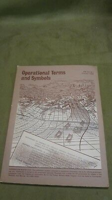vintage Department of Army Manual Operational terms and symbols