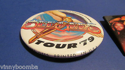 Vintage 1979 Bee Gees Pinbacks Buttons Spirits Having Flown Official Tour Pieces