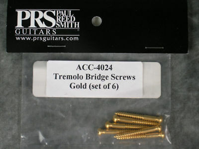 New Prs 6 Tremolo Bridge Screws Gold Paul Reed Smith Guitar Parts Tremelo Trem