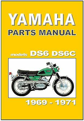 YAMAHA Parts Manual DS6 & DS6C 1969 1970 & 1971 Replacement Spares Catalog List