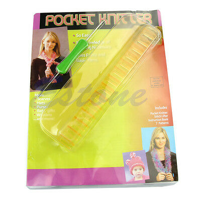 1Pc Convenient Simple Pocket Yarn Knitter Kit Easy Portable Knitting Loom