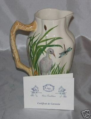 NEW  Pitcher Heron  Gien with  certificate handpainted