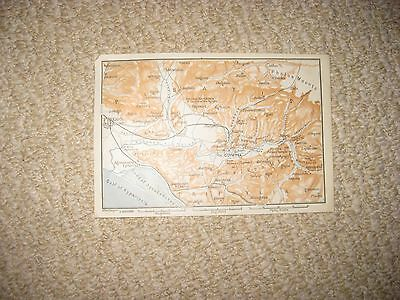 Antique 1870 Olympia Ancient Greece Map Temples Superb Detailed Rare Nr