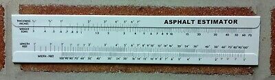 Asphalt Macadam Blacktop Tonnage Slide Rule Calculator Slideruler