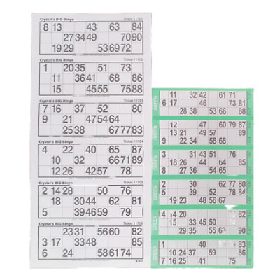 1200 Extra Large Bingo Flyers - Bingo Tickets For Visually Impaired - White