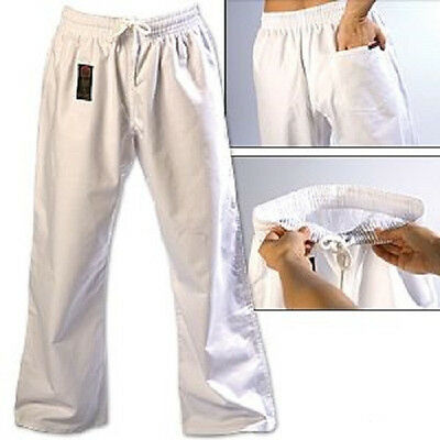 ProForce Gladiator 8 oz. Combat Karate Gi Uniform Pants Child Youth Adult White