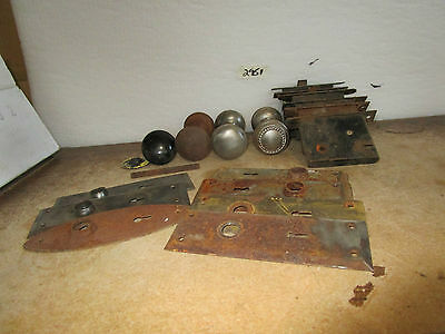Vintage Skelton Lock Box w Switch Plates Knobs Assortment