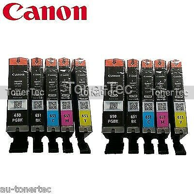 2x Canon Genuine PGI-650/CLI-651 5x Ink Set->IP7260/IP8760/IX6860/MG5660 (VP)