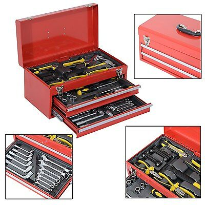 Tool Box Metal Mobile Top Chest Storage Cabinet Handle Drawer Workshop Organiser