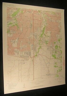 Fort Worth Texas Everman Forest Hill 1957 vintage USGS original Topo chart map