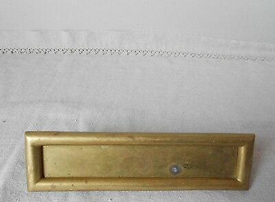 Antique French gilded BRASS Wall Door Gate LETTER MAIL SLOT