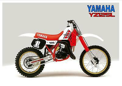 YAMAHA Poster YZ125 YZ125L 1984 VMX Suitable to Frame
